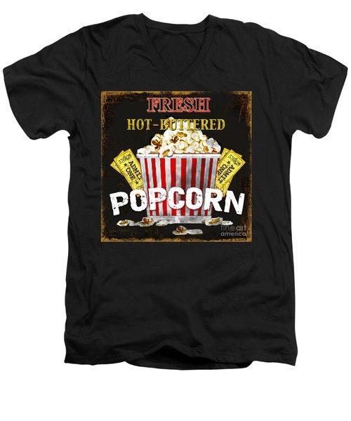 Popcorn Please Men's V-Neck T-Shirt