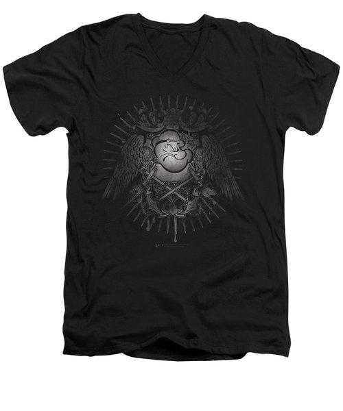 Popeye - Sailor Heraldry Men's V-Neck T-Shirt by Brand A