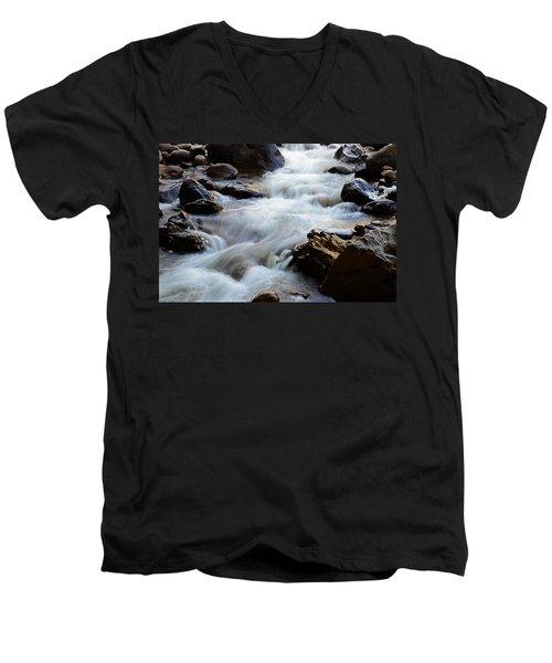 Popo Agie Flow Men's V-Neck T-Shirt by Eric Nielsen