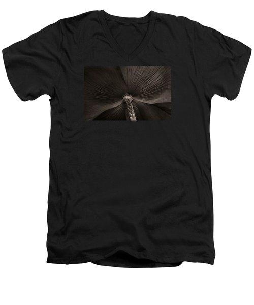 Poppy Art Men's V-Neck T-Shirt by The Art Of Marilyn Ridoutt-Greene