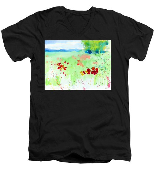 Poppy Passion Men's V-Neck T-Shirt