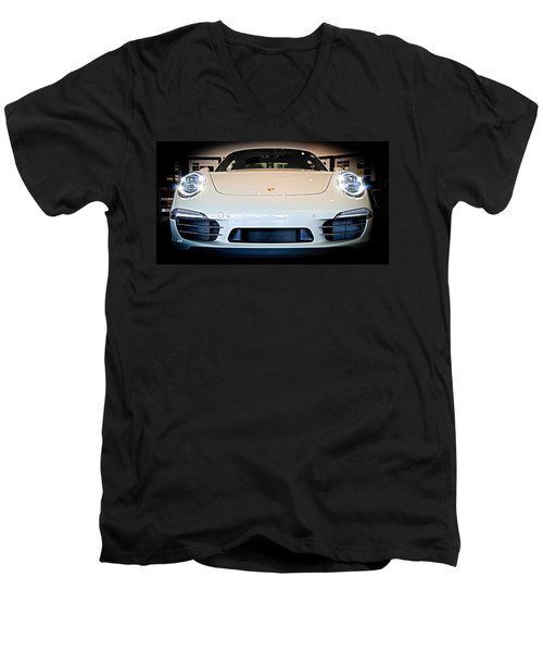 Porsche 911 50th Front With Led's Men's V-Neck T-Shirt