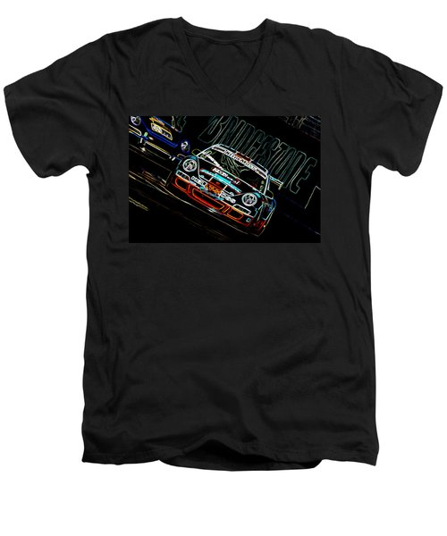 Porsche 911 Racing Men's V-Neck T-Shirt