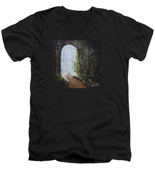 Portal Men's V-Neck T-Shirt