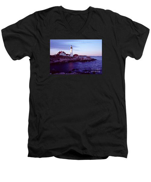 Portland Head Lighthouse Men's V-Neck T-Shirt