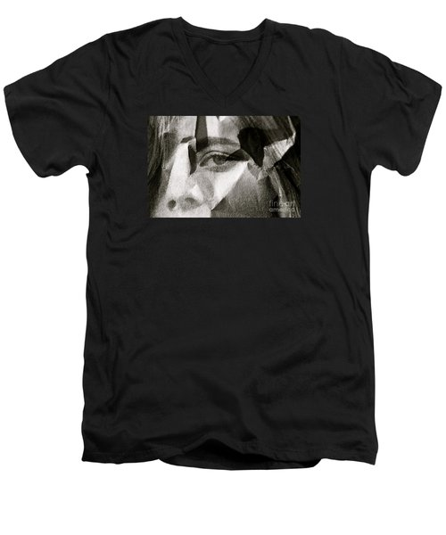 Portrait In Black And White Men's V-Neck T-Shirt