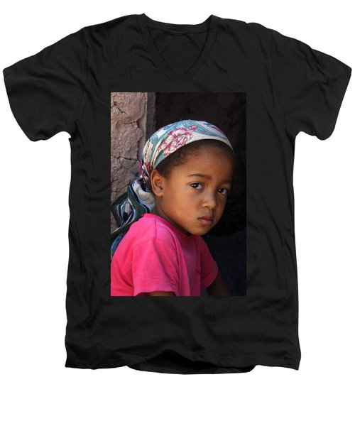 Portrait Of A Berber Girl Men's V-Neck T-Shirt