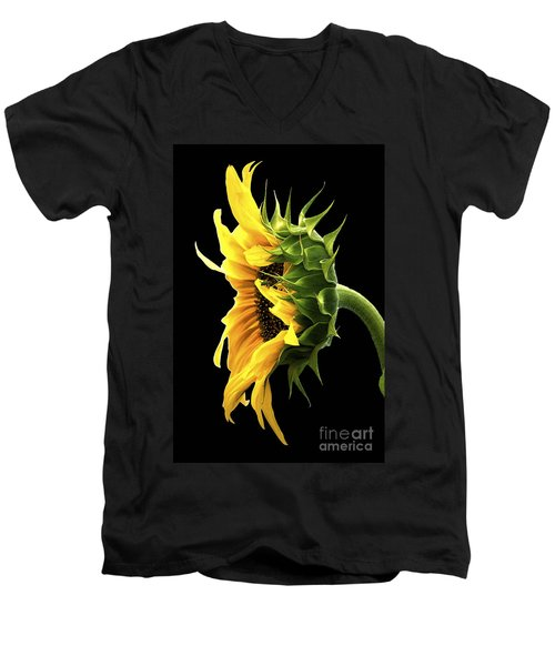 Portrait Of A Sunflower Men's V-Neck T-Shirt