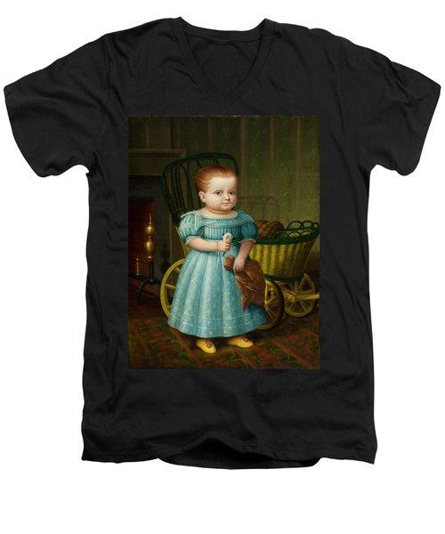 Portrait Of Sally Puffer Sanderson Men's V-Neck T-Shirt