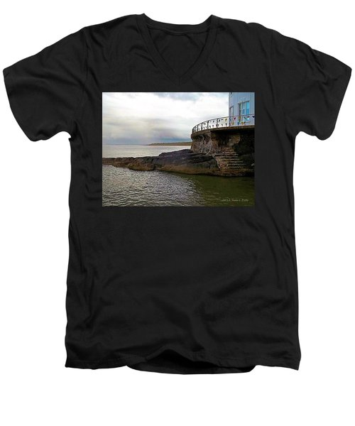 Portrush Northern Ireland Men's V-Neck T-Shirt by Tara Potts