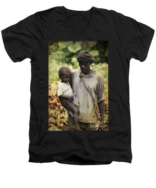 Poverty Men's V-Neck T-Shirt