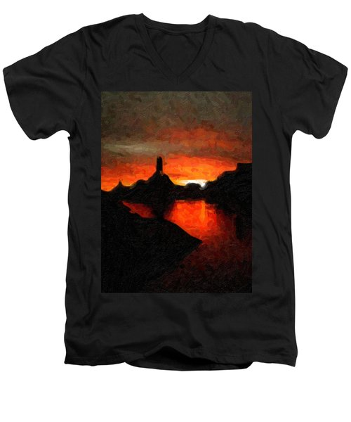 Powell Sunset Men's V-Neck T-Shirt