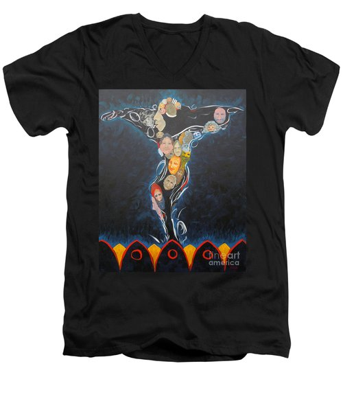Power Of Man Men's V-Neck T-Shirt