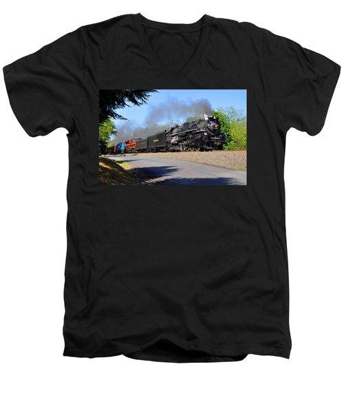 Powerful Nickel Plate Berkshire Men's V-Neck T-Shirt