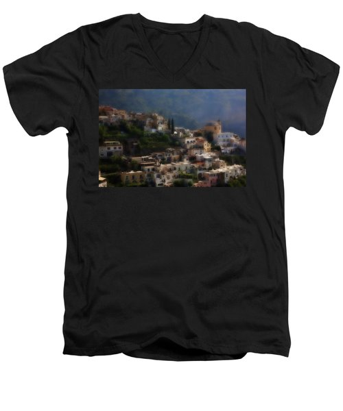 Praiano Amalfi Coast Men's V-Neck T-Shirt