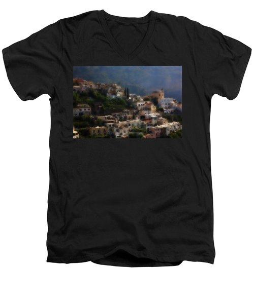 Praiano Amalfi Coast Men's V-Neck T-Shirt by Hugh Smith