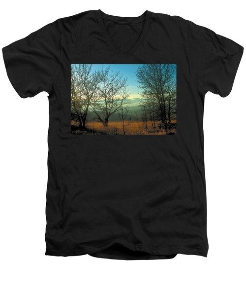 Prairie Autumn 2 Men's V-Neck T-Shirt by Terry Reynoldson