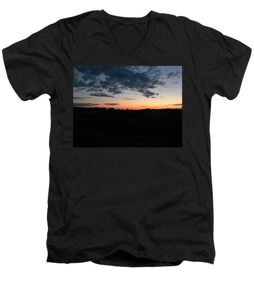 Prairie Sunset Men's V-Neck T-Shirt