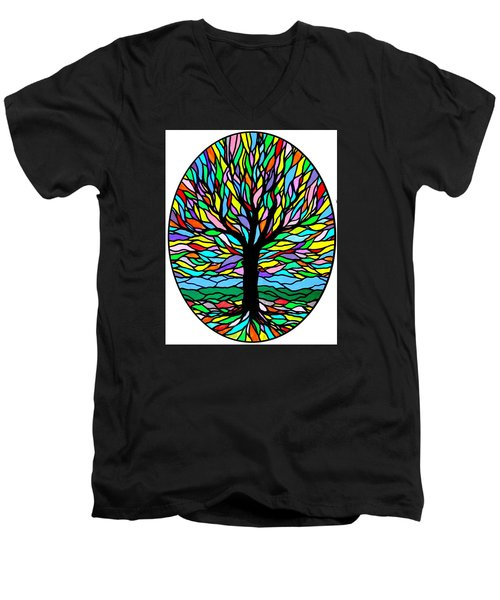 Prayer Tree Men's V-Neck T-Shirt