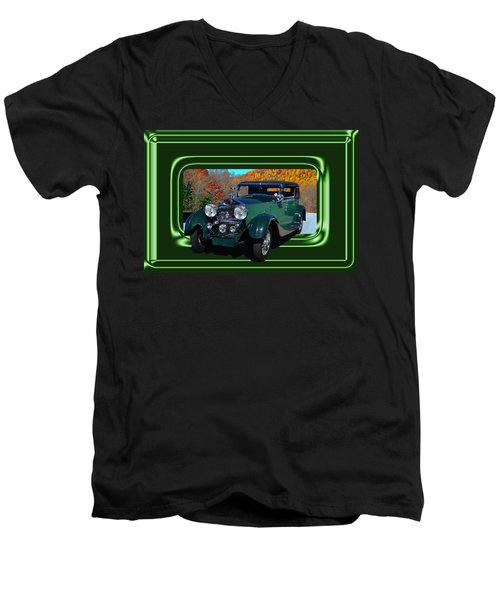 Men's V-Neck T-Shirt featuring the photograph Pretentious by Larry Bishop