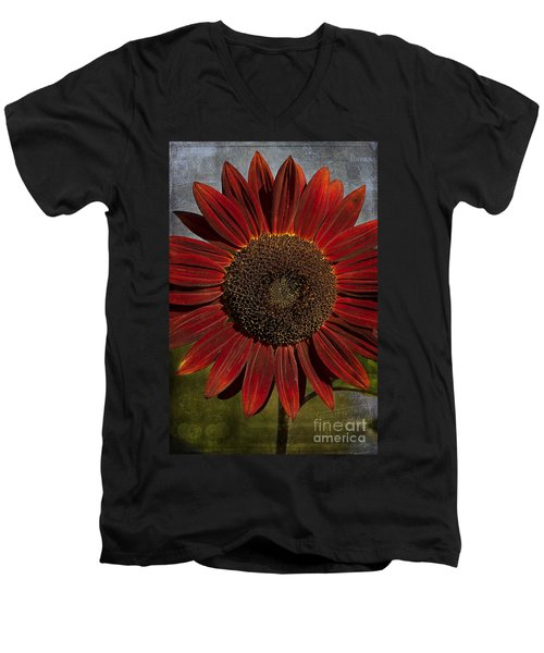 Primitive Sunflower 2 Men's V-Neck T-Shirt