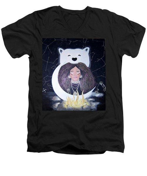 Princess Moon Men's V-Neck T-Shirt