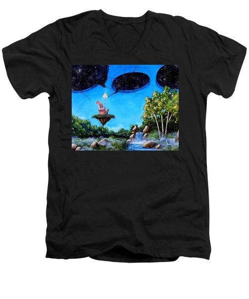 Private Space... Men's V-Neck T-Shirt