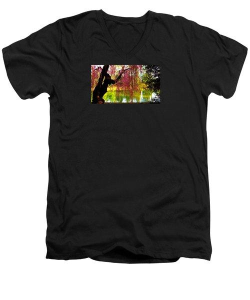Prospect Park In Brooklyn Men's V-Neck T-Shirt