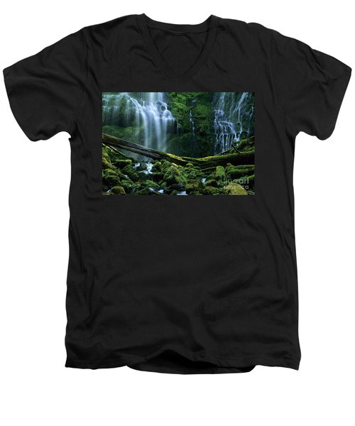 Proxy Falls Men's V-Neck T-Shirt