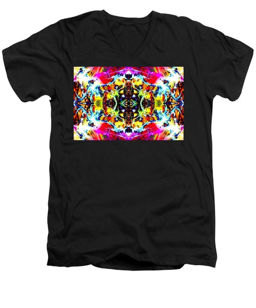 Psychedelic Abstraction Men's V-Neck T-Shirt by Marianne Dow