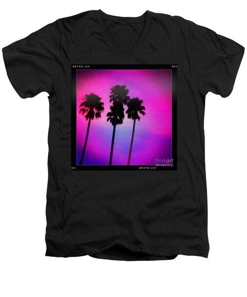 Psychedelic Palms Men's V-Neck T-Shirt