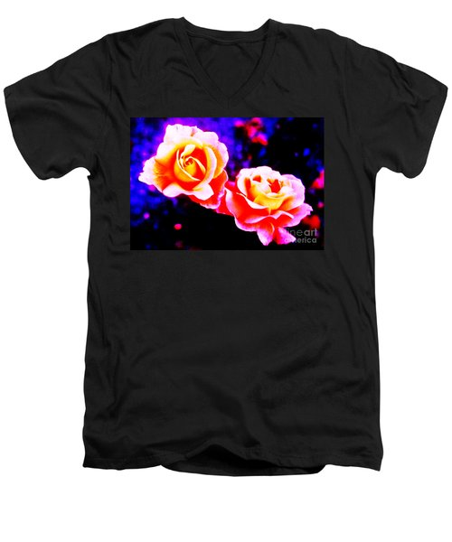 Psychedelic Roses Men's V-Neck T-Shirt