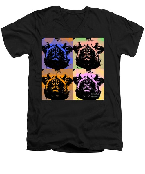 Pug Pop Art Men's V-Neck T-Shirt