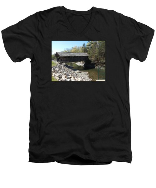 Pumping Station Covered Bridge Men's V-Neck T-Shirt