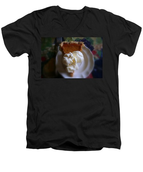 Pumpkin Pie A' La Mode Men's V-Neck T-Shirt by Kay Novy