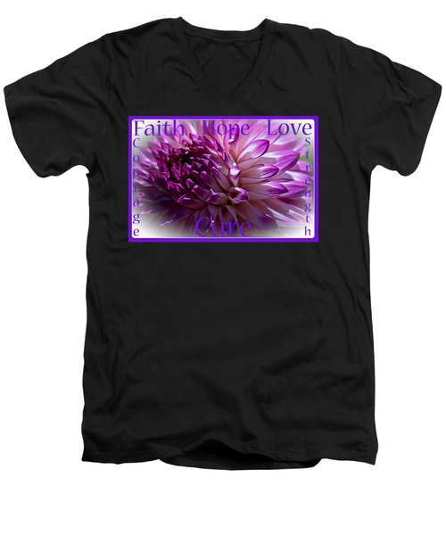 Purple Awareness Support Men's V-Neck T-Shirt