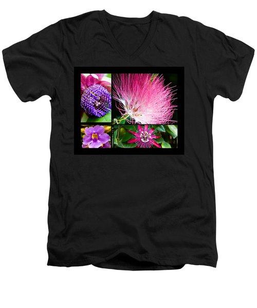Purple Bouquet Men's V-Neck T-Shirt