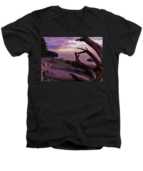 Purple Dreams In Bc Men's V-Neck T-Shirt by Barbara St Jean