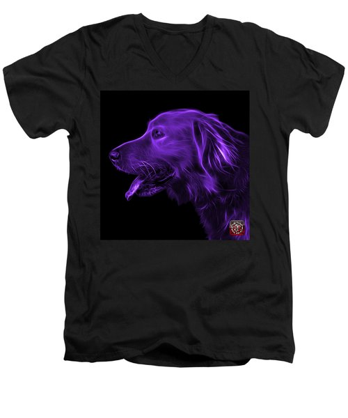 Purple Golden Retriever - 4047 F Men's V-Neck T-Shirt
