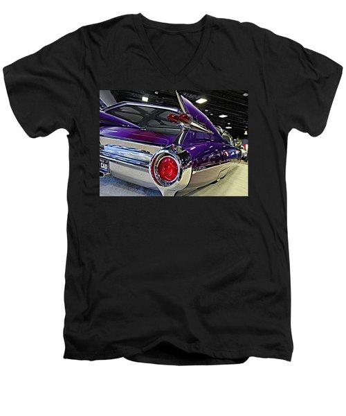 Purple Kustom Kadillac Men's V-Neck T-Shirt