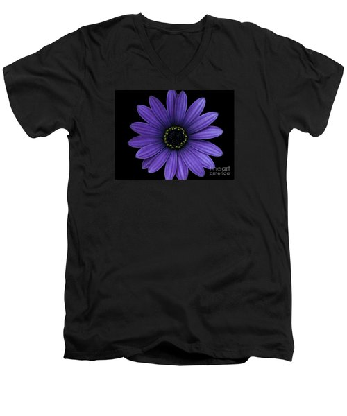Men's V-Neck T-Shirt featuring the photograph Purple Peace by Janice Westerberg