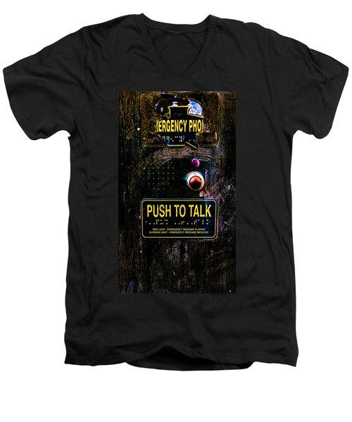 Push To Talk Men's V-Neck T-Shirt by Bob Orsillo