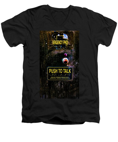 Push To Talk Men's V-Neck T-Shirt