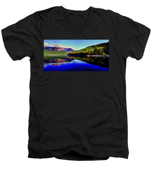 Pyramid Mirror 1 Men's V-Neck T-Shirt by William Horden