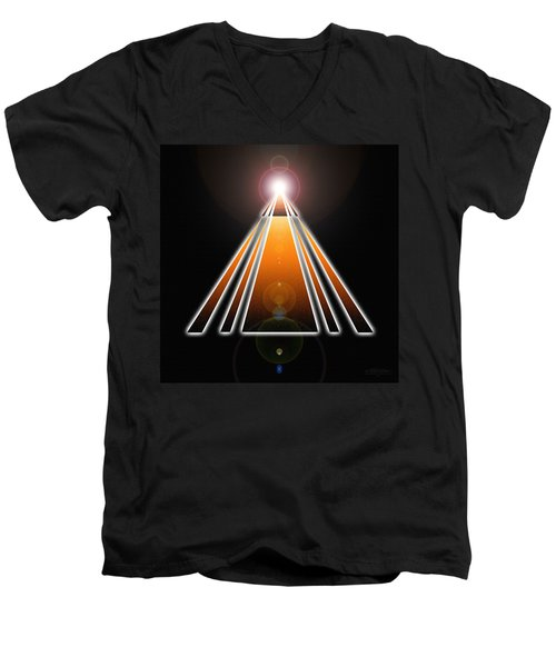 Pyramid Of Light Men's V-Neck T-Shirt