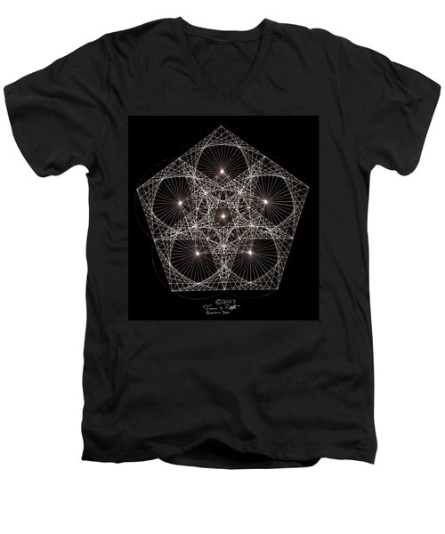 Quantum Star II Men's V-Neck T-Shirt by Jason Padgett