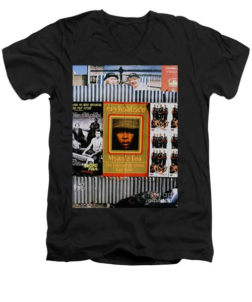 Men's V-Neck T-Shirt featuring the photograph Queen Badu by Rebecca Harman