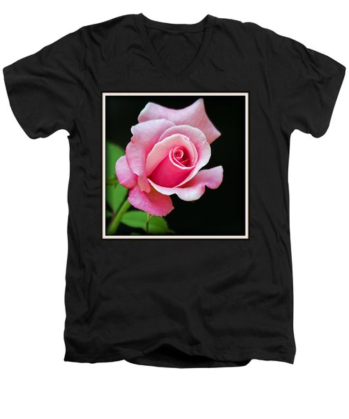 Queen Elizabeth Rose Men's V-Neck T-Shirt