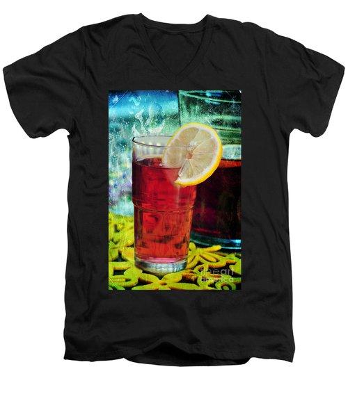 Quench My Thirst Men's V-Neck T-Shirt by Randi Grace Nilsberg