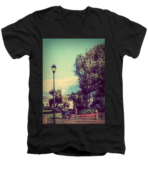 Quiet Reflections Men's V-Neck T-Shirt by Melanie Lankford Photography